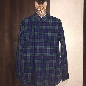 Lands' End Plaid Pullover Button Placket Shirt